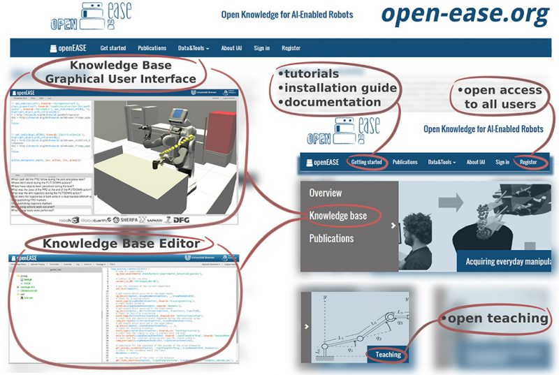 Open-EASE present Open Knowledge for AI-Enabled Robots on the Webside.